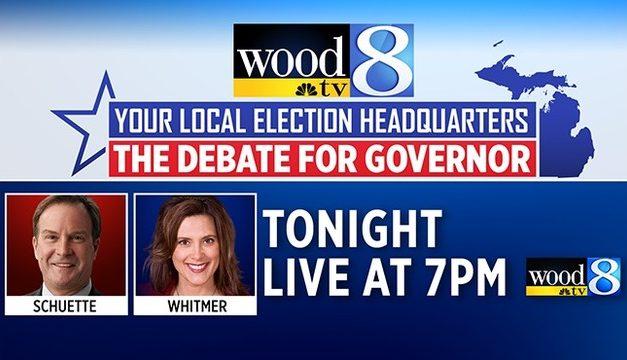 Live stream of the Whitmer, Schuette debate