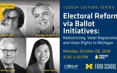 Electoral Reform via Ballot Initiatives Panel