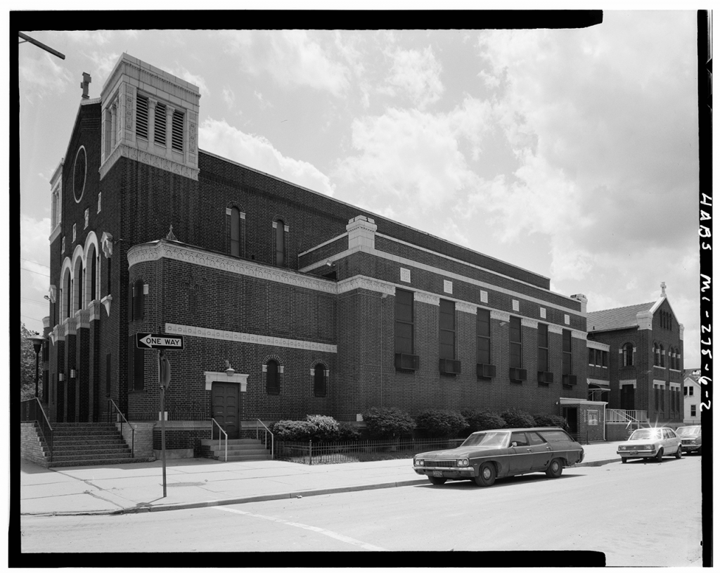 The Immaculate Conception Church in Poletown before the wrecking ball - Image courtesy the Library of Congress