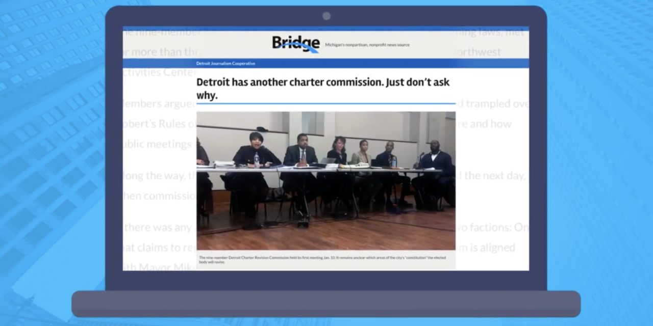 What is the Detroit Charter Revision Commission? One Detroit and Bridge Magazine explain.