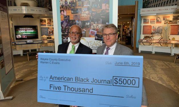 Wayne County Exec. Warren Evans Congratulates American Black Journal for 50 years of Community Service